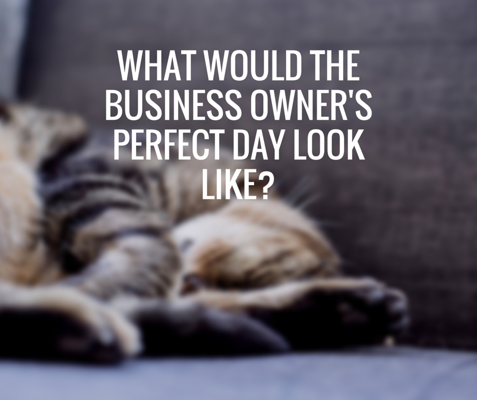What would the business owners perfect day look like?