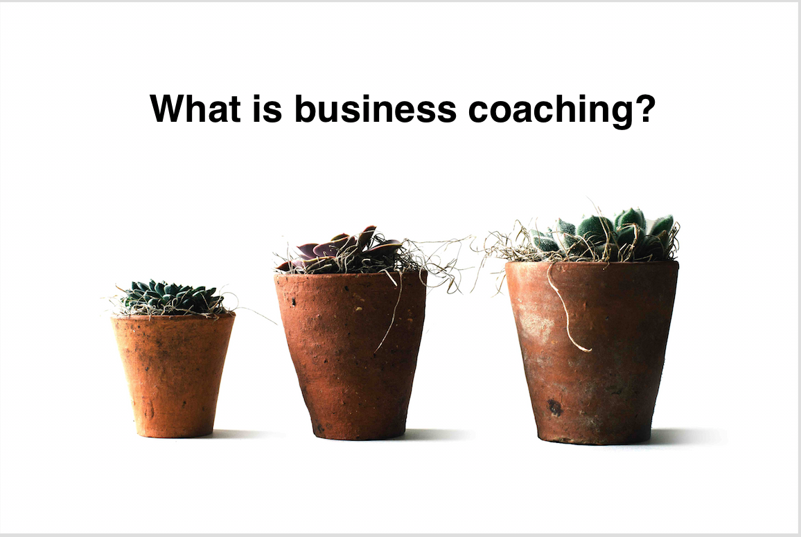 What is business coaching?