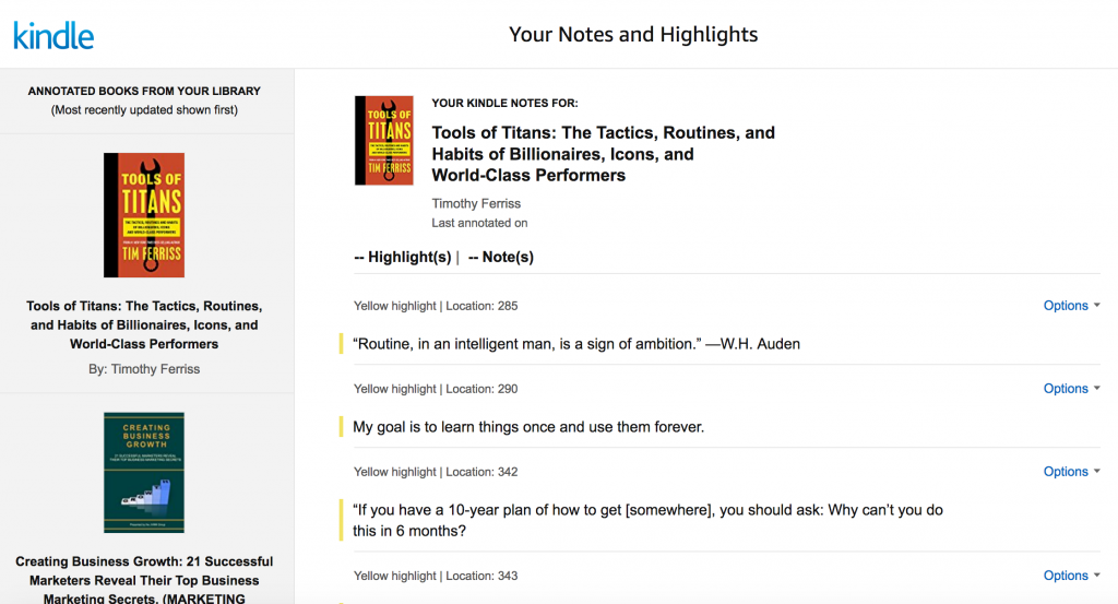 Kindle Notes and Highlights Into Evernote